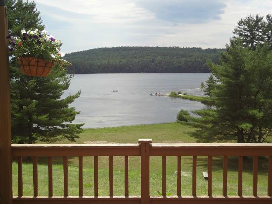 Bear Mountain Inn: From the deck over looking Bear Pond