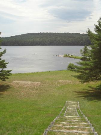 Bear Mountain Inn: From the swing over looking Bear Pond