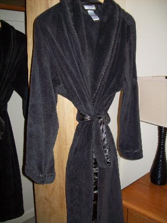 The Bath House: plush robes in the closet