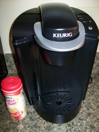 The Bath House: a Keurig coffe maker!