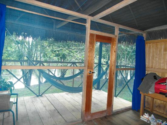 Muyuna Amazon Lodge: From inside our lodge looking out
