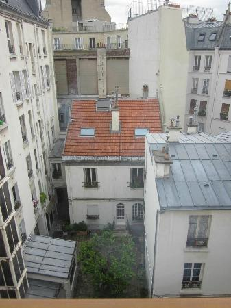 Hotel Muguet: The courtyard view is lovelier than this photo suggests!