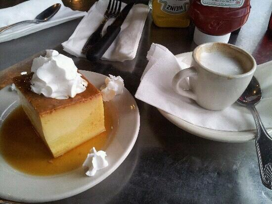 Latin Cafe 2000: Flan with pound cake inside and cortadito