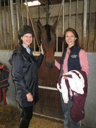Clare Equestrian Centre: Mary and Beth with Jason, a son of Chippison