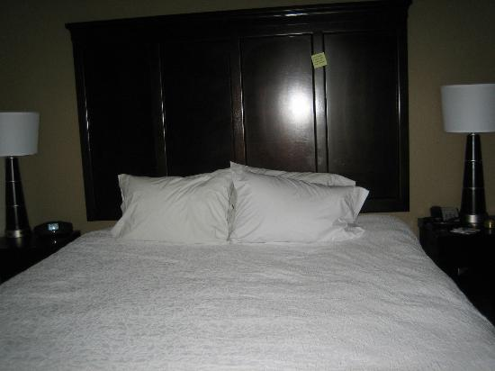 Hampton Inn & Suites Swansboro / near Camp Lejeune at Bear Creek Gate: Hampton Inn & Suites Swansboro - the bed