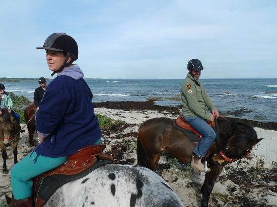 King Island Trail Rides: Admiring the view