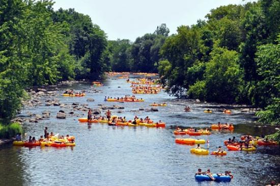 Wolf River Trips and Campground: River Tubing on the Little Wolf River - New London, Wisconsin