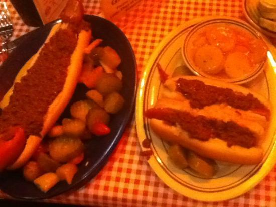Tony Packo's Cafe: MOAD and hot dogs with hot potato salad