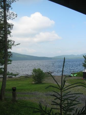 Sally Mountain Cabins : view from porch..kayaks on right