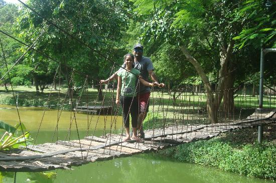 The Legacy River Kwai: walking on the wooden bridge