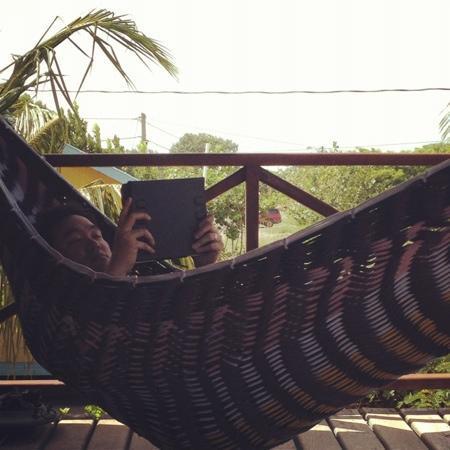 Colibri House: hammocks on deck