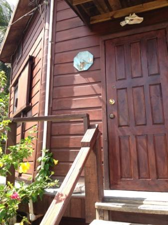 Colibri House: front door to upper unit