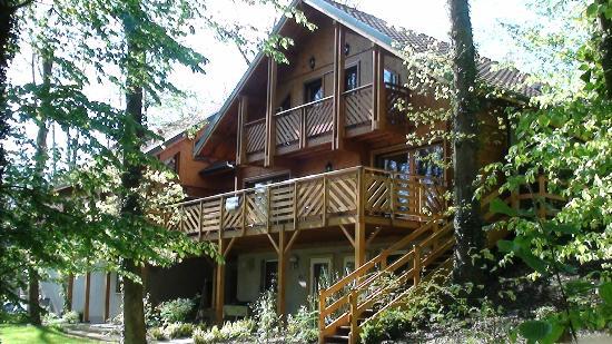 Hôtel La Maison d'Hôtes : la terrasse, côté forêt