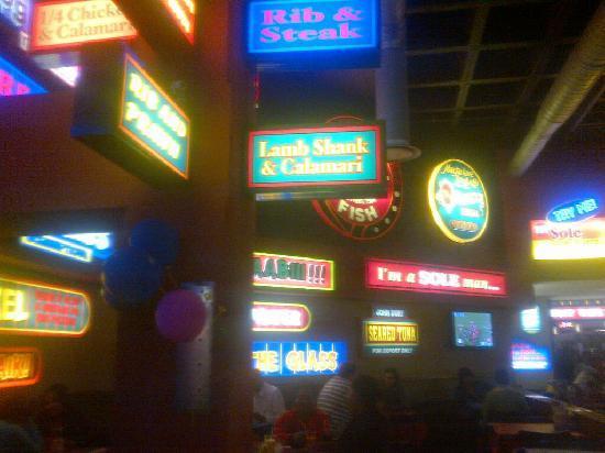 John Dory's: decor inside restaurant - eye sore