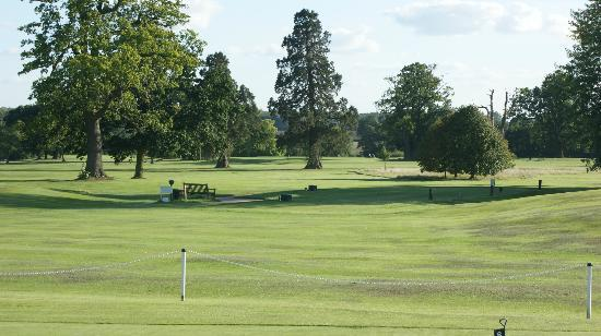 Halstead, UK: View of the course from the clubhouse