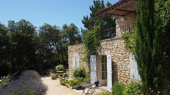 La Bastide de Soubeyras : Back garden