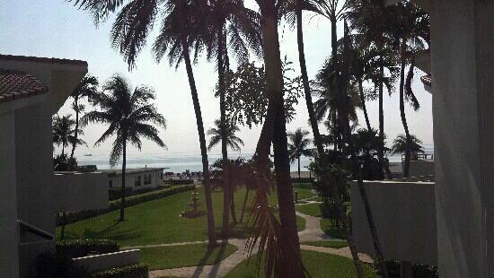 Golden Strand Ocean Villa Resort: partial ocean views from my bedroom & living room windows