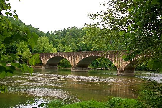 Lake Cumberland State Resort Park: Cumberland Bridge built in the early 1900's
