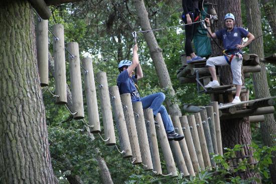 Parc Anjou Aventure : avoir l'équilibre pfff