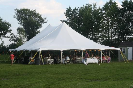 Hebron, ME: Our wedding tent