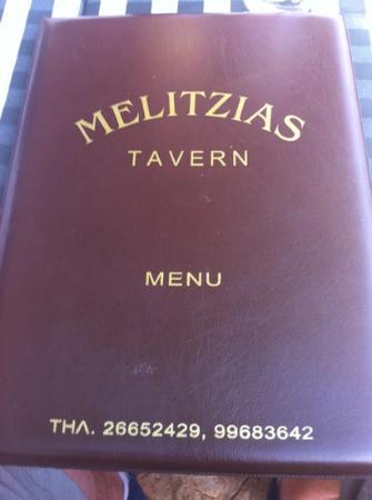 Melitzia Taverna: menu