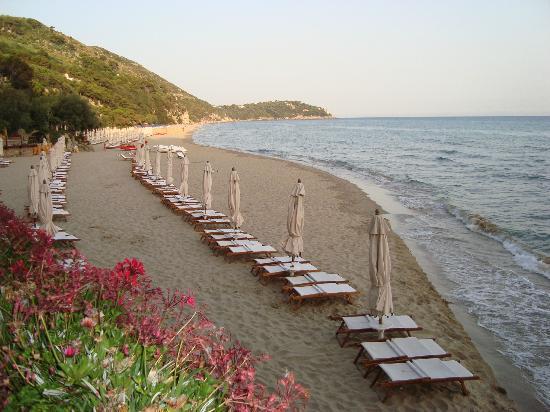 Aeneas' Landing: spiaggia al tramonto