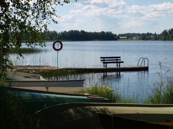 Spa Kivitippu: hotel view of the lake