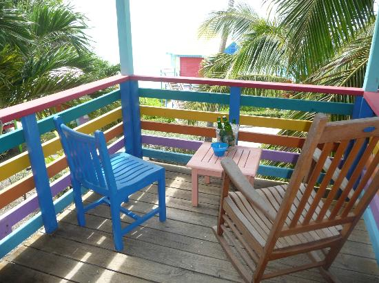 Compass Point Beach Resort: Balcony from elevated sea view room