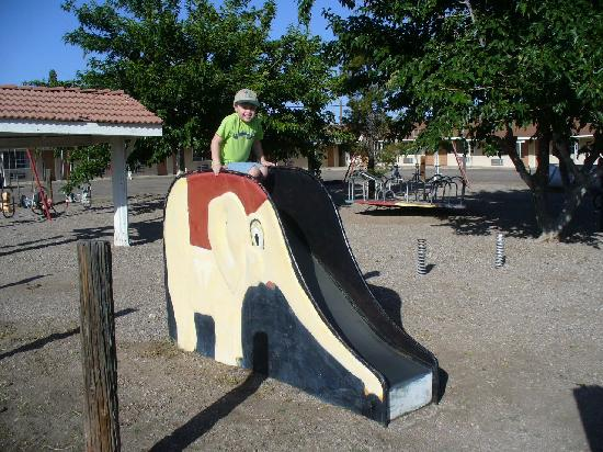Holiday Motel: Take a slide down the elephant!