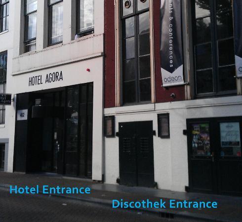 Hotel Agora: Laute Diskothek direkt im Nebengebäude