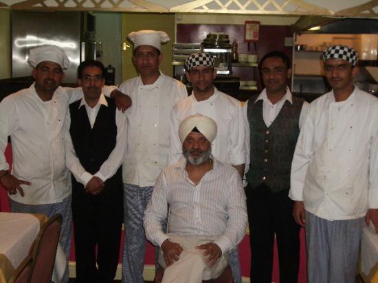 Raja's Restaurant: Raja and staff