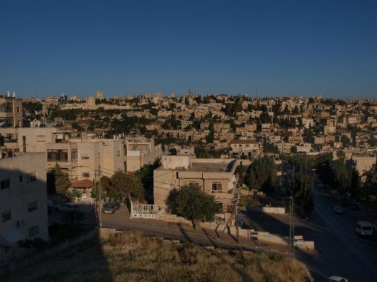 Commodore Hotel Jerusalem: 朝、部屋から旧市街の眺め