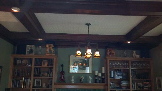 The Old Rectory: Dining Room - original light fixture