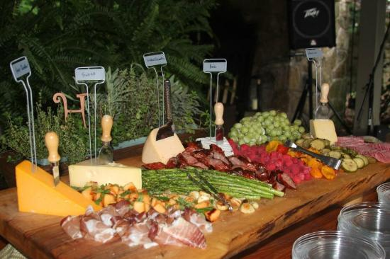 The cheese board at Hawkesdene.