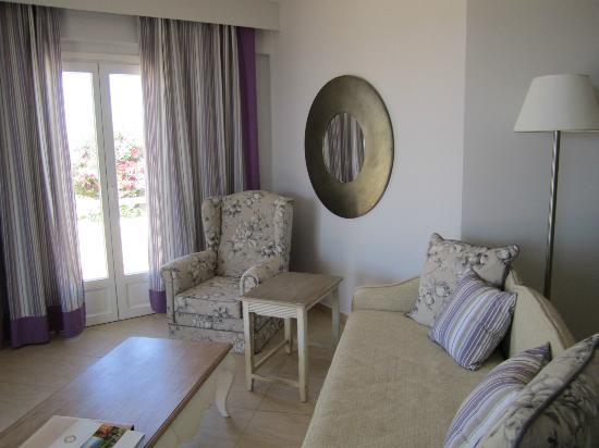Finikas Hotel Naxos: our suite's lounge!