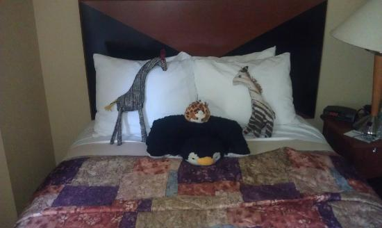 Sleep Inn & Suites Lancaster County : Our Bed made you by housekeeping!