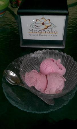 Magnolia : Strawberry ice cream