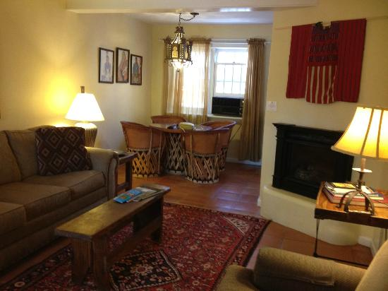 Don Gaspar Inn: Living and Dining rooms