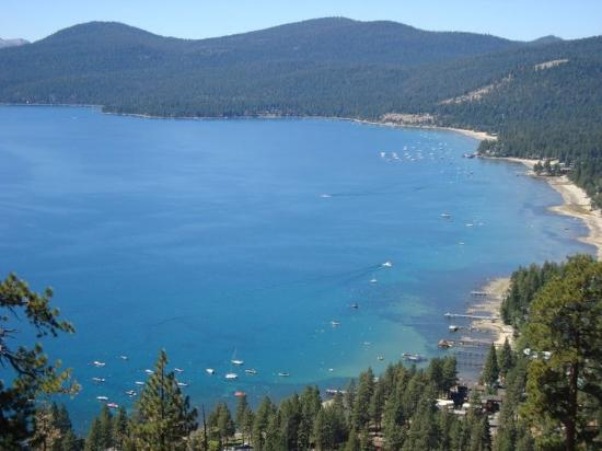 Stateline Fire Lookout: Crystal Bay from the top of the Fire Trail