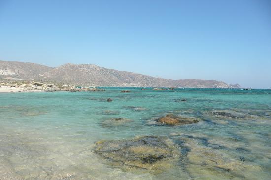 Elafonissi  Beach: The beach