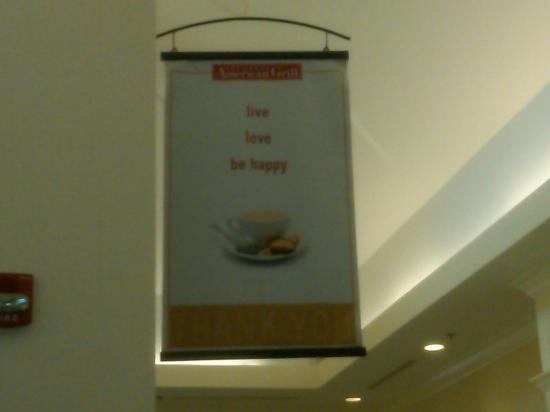 Hilton Garden Inn Macon / Mercer University: This sign in the restaurant suited our occasion perfectly!