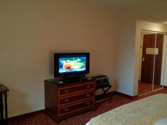 Cincinnati Marriott Northeast : TV and bare walls