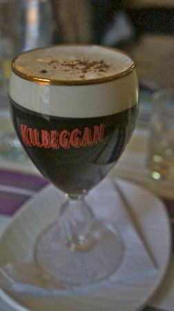 The Oystercatcher Bistro: Irish Whiskey coffee, a pleasant ending to a fulsome meal.
