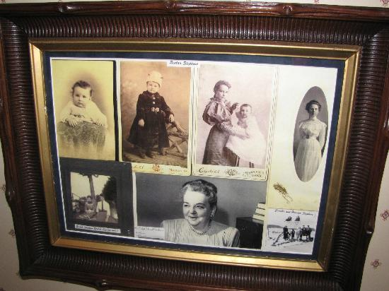 Squiers Manor B&B: Photos of Beulah Squires whose father the house was built for, and whose room we stayed in