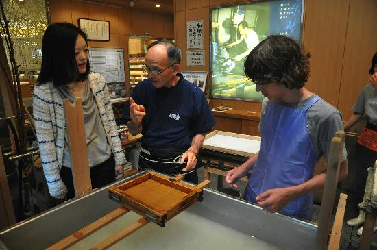 Private Tour:  Edokko Guided Tours of Tokyo: Ayako translated for us at the paper museum