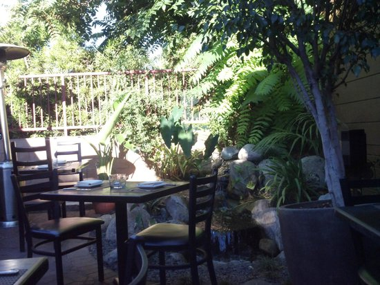 The Back Patio At Noir Pasadena Picture Of Noir Food Wine