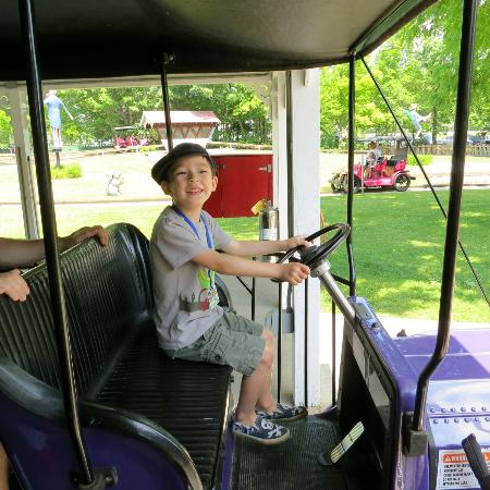 story land he got a license and drove us in an antique car