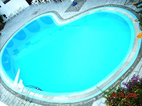 New Haroula Hotel: the pool from the room