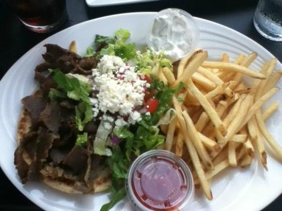 Vasili's Kitchen : Gyro - A classic Greek combination of beef and lamb.