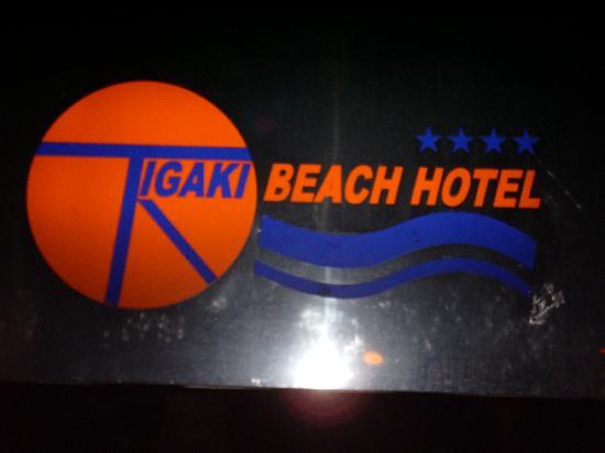 tigaki beach hotel sign